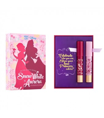 Happy Skin X Disney Princess Moisturizing Matte Lippie Set in Snow White and Aurora