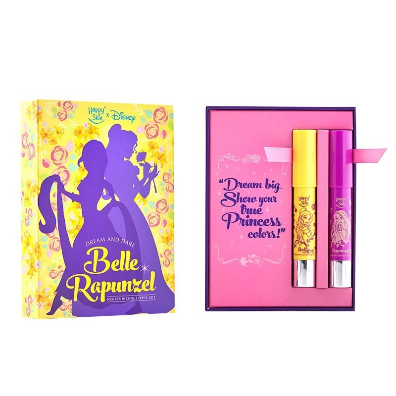 Happy Skin X Disney Princess Moisturizing Lippie Set In Belle And