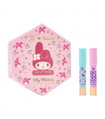 Happy Skin ♡ Sanrio Moisturizing Matte Lippie Set In Flower Power & Berry Good