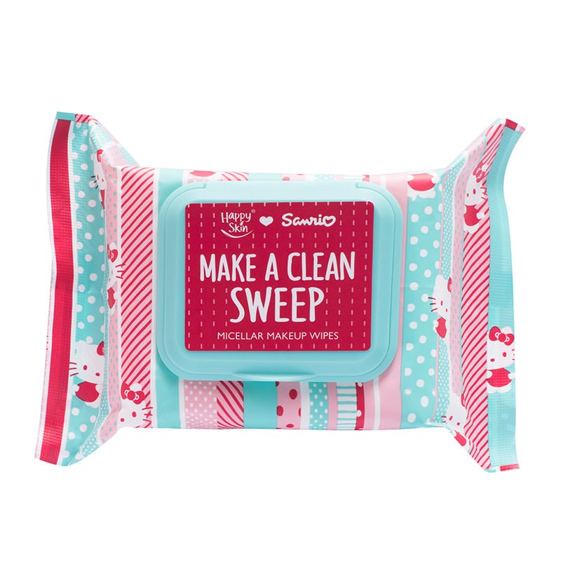 Happy Skin ♡ Sanrio Make A Clean Sweep Micellar Makeup Wipes