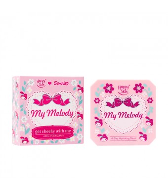 Happy Skin ♡ Sanrio Get Cheeky With Me All-Day Hydrating Blush In My Melody (Wine Red)