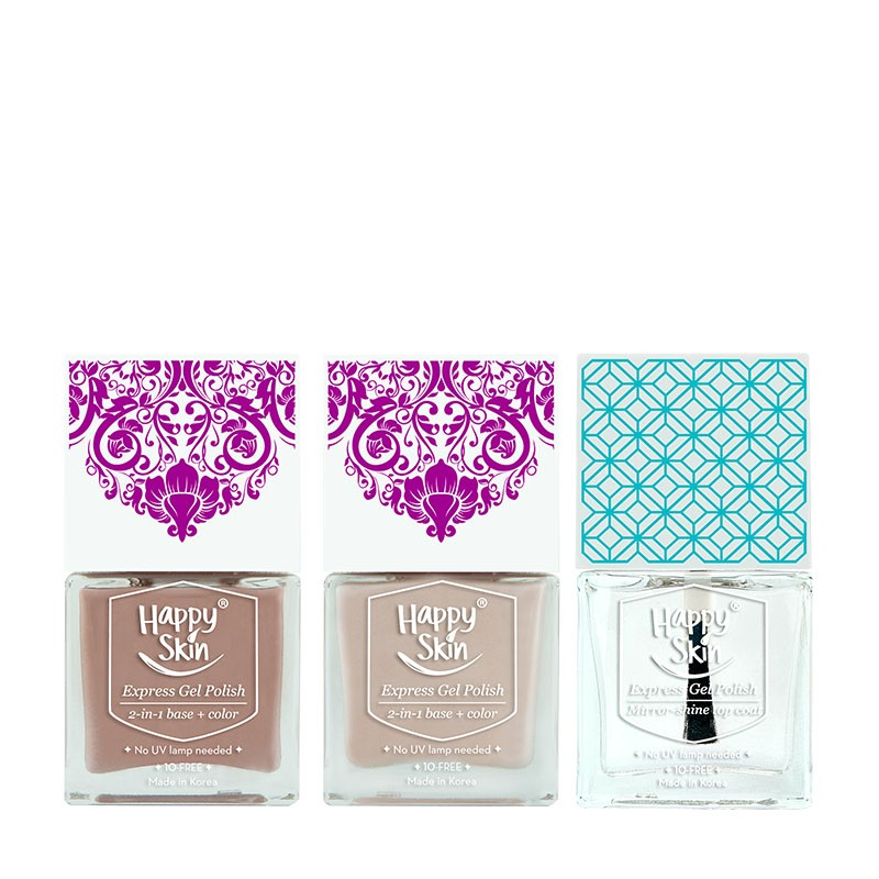 Express Gel Polish Duo In Queen Of His Heart And Bridechilla + Mirror-Shine Top Coat
