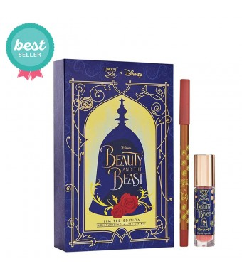 Happy Skin X Disney Beauty And The Beast Moisturizing Matte Lip Kit In Rose