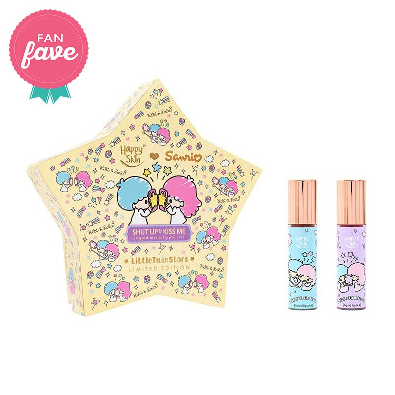 Happy Skin ♥ Sanrio Liquid Matte Lippie Set In Twinkle Twinkle & Star Wand