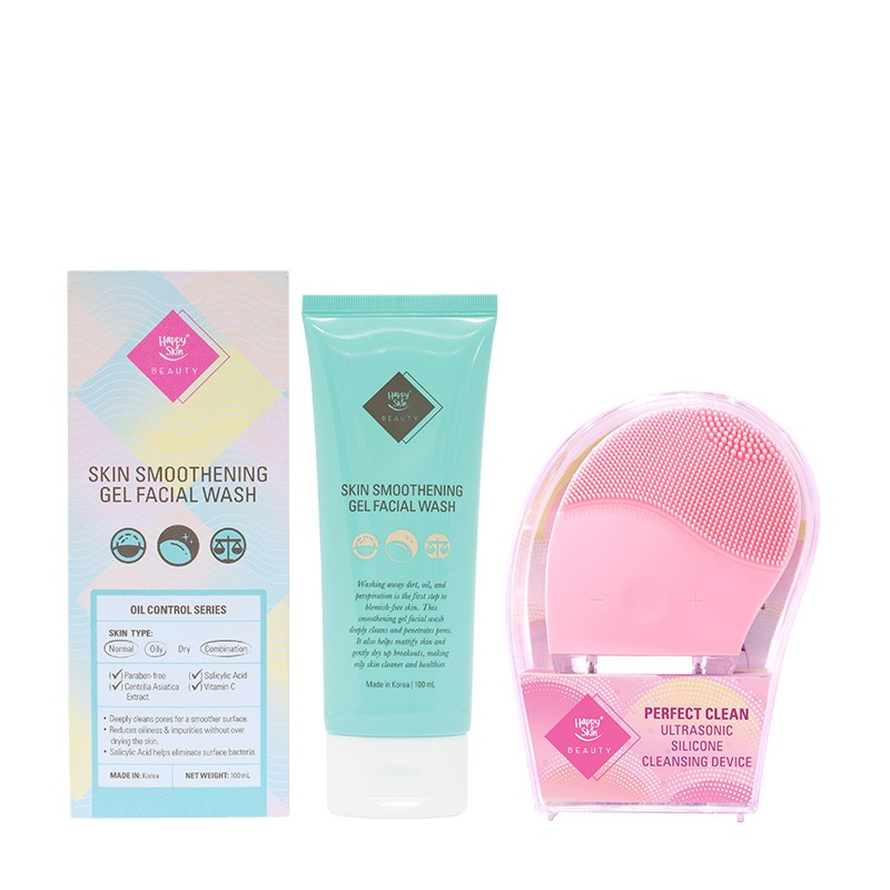 Skin Smoothening Gel Facial Wash + Silicone Cleansing Device