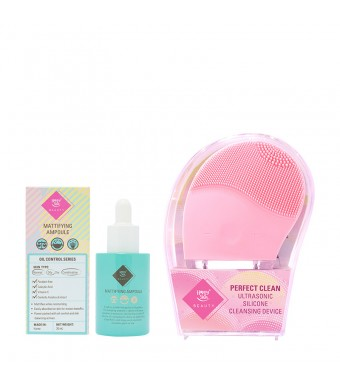 Mattifying Ampoule + Silicone Cleansing Device