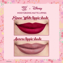 Discover how the Happy Skin X Disney lippies look like when worn!
