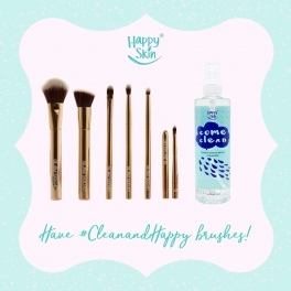 Cleanse your makeup brushes the Happy Skin way