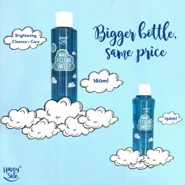 Happy Skin's new makeup remover: Bigger bottle, same price!