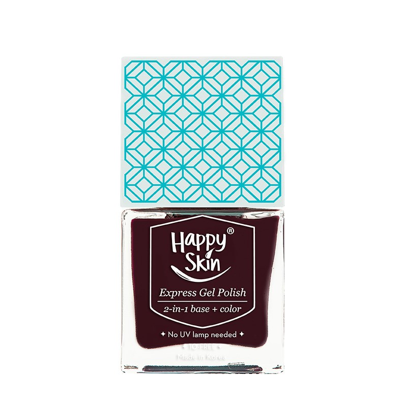 Express Gel Polish 2-in-1 Base + Color in Icon (Wine Red)