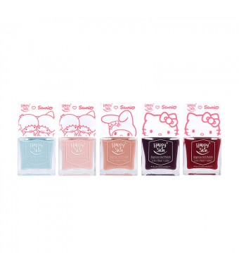 Happy Skin ♥ Sanrio Express Gel Polish 2-In-1 Base + Color Limited Edition Set Of 5