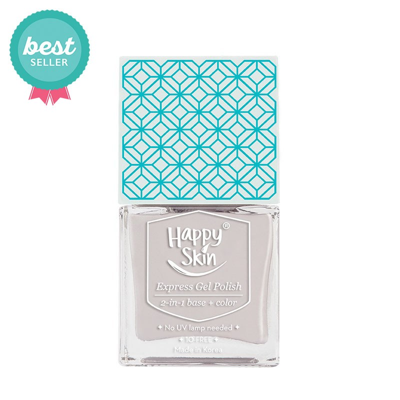 Express Gel Polish 2-in-1 Base + Color in Dreamer (Light Dove Gray)