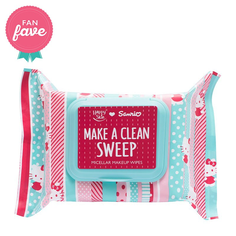 Happy Skin ♥ Sanrio Make A Clean Sweep Micellar Makeup Wipes