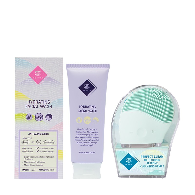 Hydrating Facial Wash + Silicone Cleansing Device