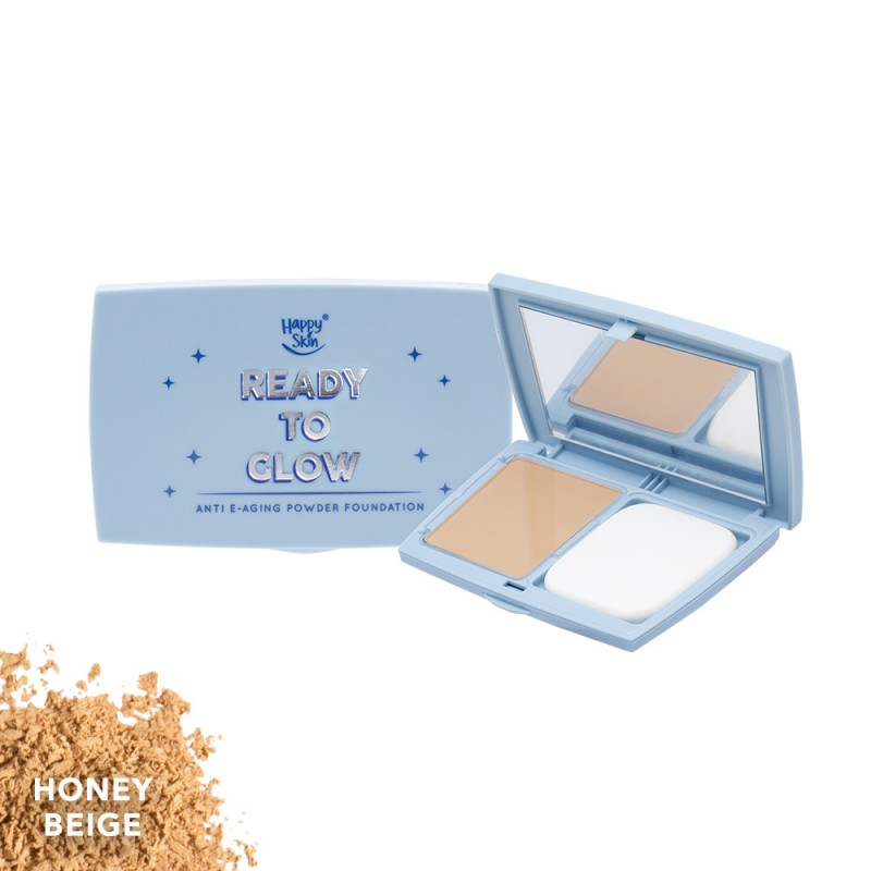 Ready To Glow Anti E-Aging Powder Foundation in Honey Beige