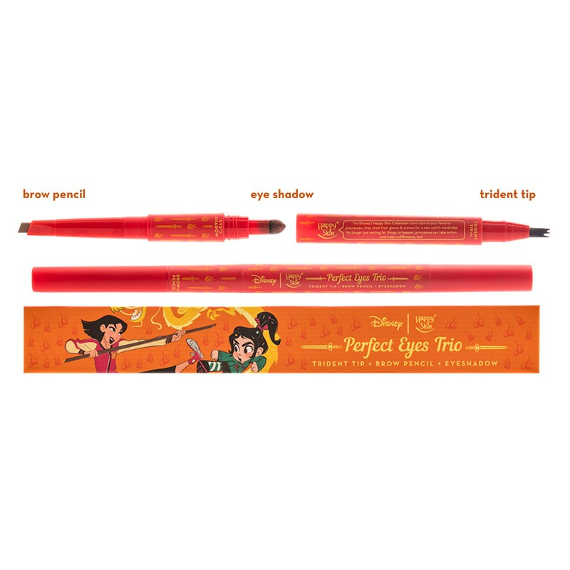Happy Skin | Disney Perfect Eyes Trio - Mulan (Trident Tip + Brow Pencil + Eyeshadow)