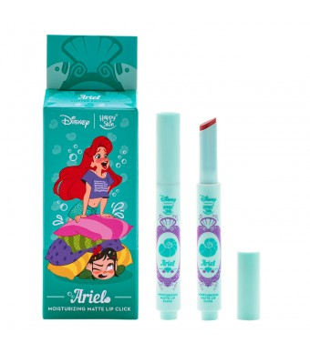 Happy Skin | Disney Moisturizing Matte Lip Click - Ariel