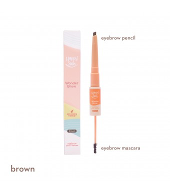 Happy Skin Wonder Brow Eyebrow Pencil + Mascara In Brown