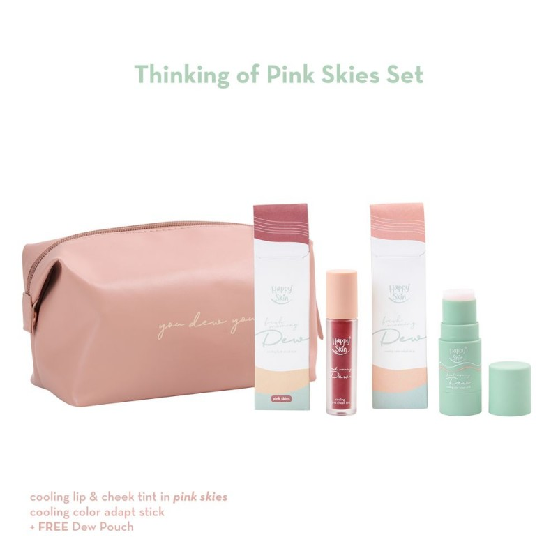 Happy Skin Dew Thinking Of Pink Skies Set (Tint + Color Adapt Stick)