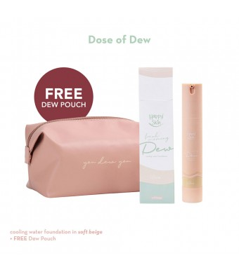Happy Skin Dose Of Dew Foundation Bundle (Soft Beige)