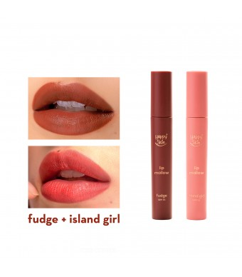 Happy Skin Lip Mallow Mousse Fudge + Island Girl Set