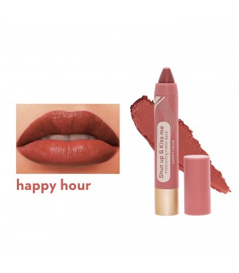 Happy Skin Shut Up & Kiss Me Moisturizing Matte Lippie In Happy Hour