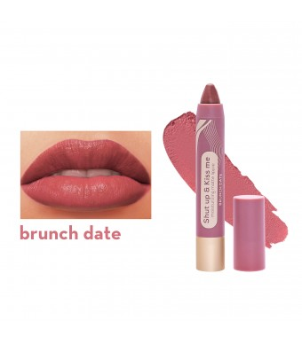 Happy Skin Shut Up & Kiss Me Moisturizing Matte Lippie In Brunch Date