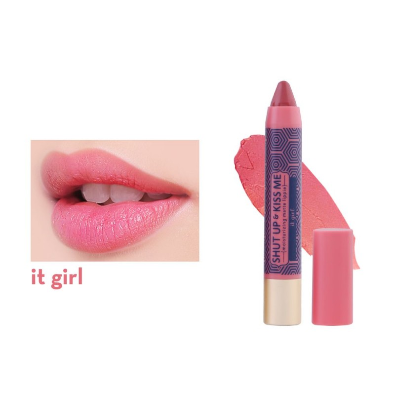 Shut Up & Kiss Me Moisturizing Matte Lippie in It Girl