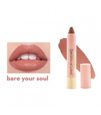 Shut Up & Kiss Me Moisturizing Matte Lippie - Bare Your Soul