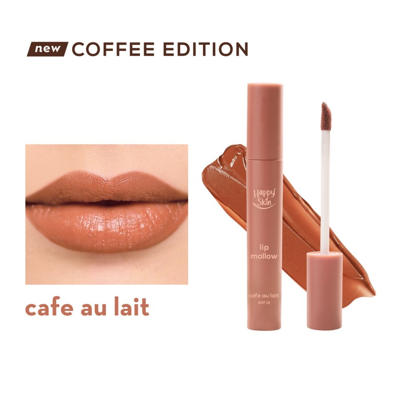 Happy Skin Lip Mallow Mousse Coffee Edition in Café Au Lait