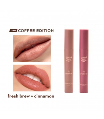 Happy Skin Lip Mallow Mousse Coffee Duo - Fresh Bew + Cinnamon Duo