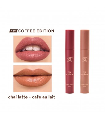 Happy Skin Lip Mallow Mousse Coffee Duo - Café Au Lait + Chai Latte
