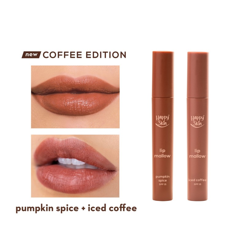 Happy Skin Lip Mallow Mousse Coffee Duo - Iced Coffee + Pumpkin Spice