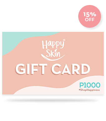 Happy Skin Gift Card Worth P1000 (Pay only P850, discount applied on checkout)