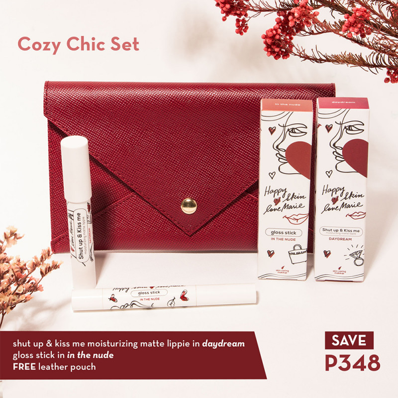 Happy Skin X Love Marie Cozy Chic Kit (Matte Lippie + Gloss Stick)