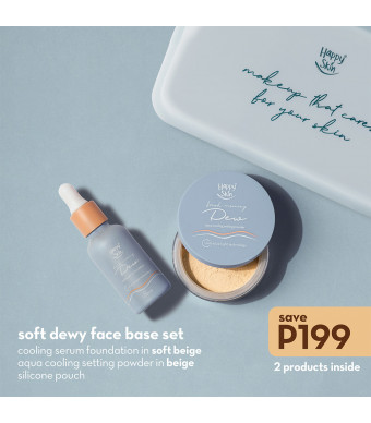 Happy Skin Dew Soft Dewy - Face Base Set (Serum Foundation + Aqua Setting Powder)