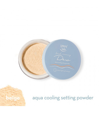 Happy Skin Dew Aqua Cooling Setting Powder In 02 Beige