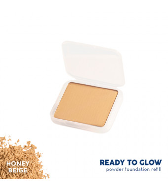 Happy Skin Ready To Glow Anti E-Aging Powder Foundation Refill - Honey Beige