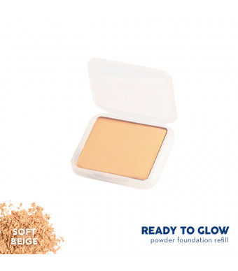Happy Skin Ready To Glow Anti E-Aging Powder Foundation Refill - Soft Beige