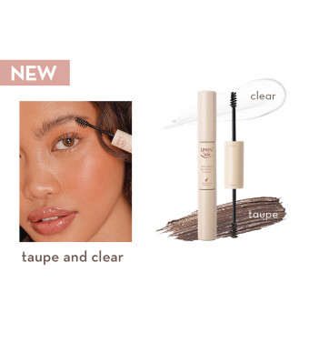 Happy Skin Second Skin Dual-Ended Serum Brow Mascara In Taupe