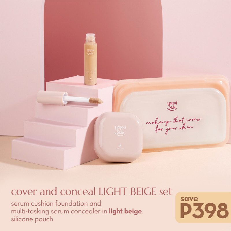 Happy Skin Cover And Conceal Light Beige Set