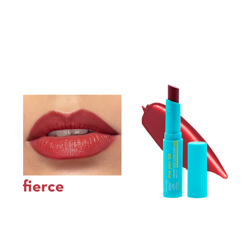 Love Your Lips Intense Color Butter Balm Spf 15 In Fierce