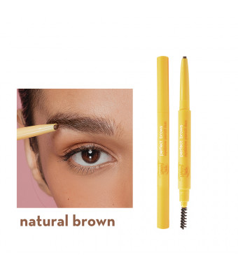 Generation Happy Skin Perfect Brows Eyebrow Pencil Duo In Natural Brown